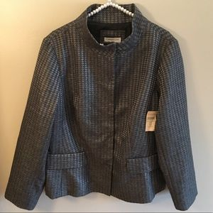 NWT Coldwater Creek gray button up blazer size 18W